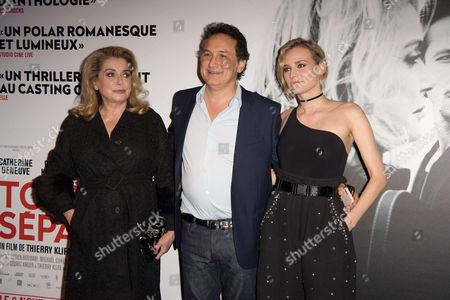 Catherine Deneuve, Director Thierry Klifa and Diane Kruger