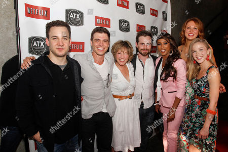 "The cast of the the 1990s ABC sitcom ""Boy Meets World,"" including Ben Savage, Matthew Lawrence, Betsy Randle, Rider Strong, Trina McGee, Maitland Ward, and Lily Nicksay, left to right, attend the ATX Television Festival opening night red carpet, in Austin, Texas"
