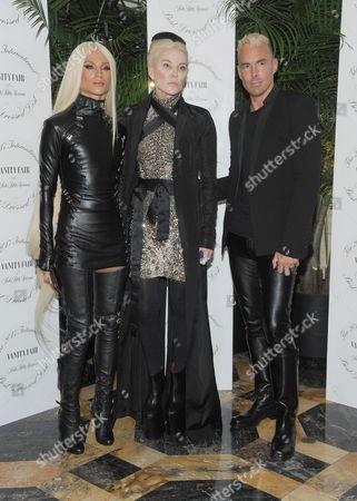 Phillipe Blond, Daphne Guinness and David Blond