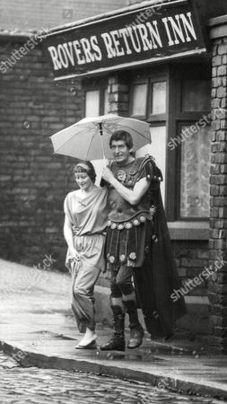 Gerry Cowan As A Roman Soldier And Annette Farrant As His Girlfriend In Television Documentary 'yesterday's Dust Tomorrow's Dreams' - A Reconstruction Of The History Of Manchester's Castlefield Area From The Romans To The Rovers Return Pub On The Nearby Coronation Street Set. Box 764 212061737 A.jpg.