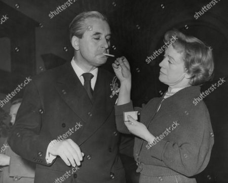 Jack Browne Baron Craighton The Scottish Conservative Mp Is Given A Light For His Cigarette By Wife Eileen. Box 764 712061713 A.jpg.