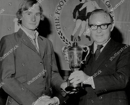 David Pear (right) With Young Footballer Robert Crampton At South London Soccer Coaching Festival. Box 765 819061744 A.jpg.