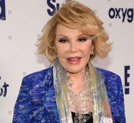 Joan Rivers attends the NBCUniversal Cable Entertainment 2014 Upfront at the Javits Center in New York. The family of the late comedian, who died days after undergoing a routine endoscopy at a New York City clinic, has settled a medical malpractice lawsuit against the facility, the family's attorneys said