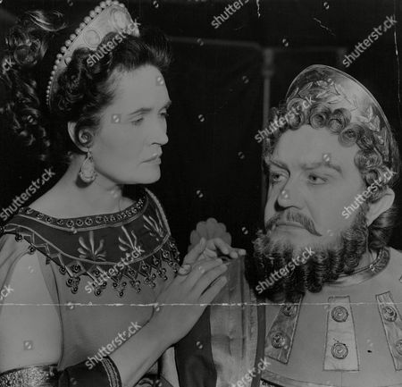 Margaretta Scott Appears As Clytemnestra And Andrew Cruickshank As Agamemnon In Tv Play 'sacrifice To The Wind'. Box 768 929061739 A.jpg.
