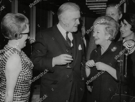 Actor Andrew Cruickshank And Wife With Actress Beryl Reid (right) At The G.p.o. Tower. Box 768 929061719 A.jpg.
