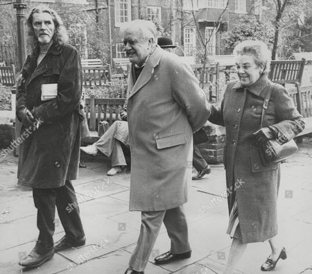 Editorial image of Actor Andrew Cruickshank (centre) Arriving For A Memorial Service. Box 768 929061725 A.jpg.