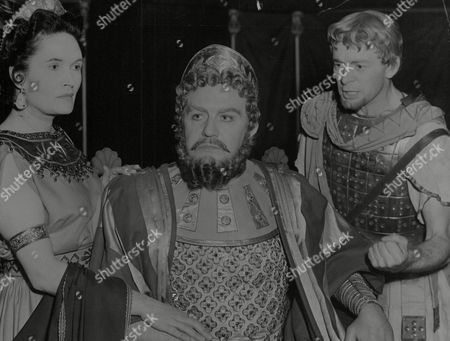 Margaretta Scott Appears As Clytemnestra And Andrew Cruickshank As Agamemnon In Tv Play 'sacrifice To The Wind'. Box 768 92906179 A.jpg.