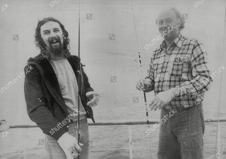 Actor Iain Cuthbertson (r) & Comedian Billy Connolly (l) Fishing Off The Island Of Staffa Onboard The Boat 'pippin'. Box 770 80607177 A.jpg.