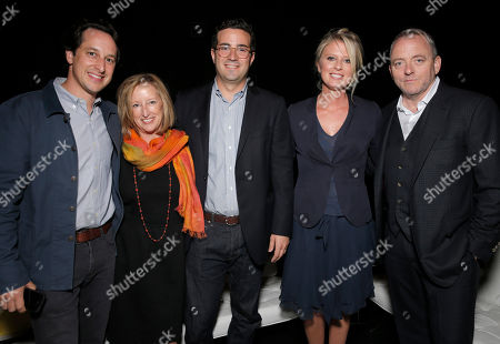 Fox Searchlight's VP of Production David Greenbaum, Fox Searchlight's President of Production Claudia Lewis, Producer Mike Larocca, Producer Jenno Topping and Screenwriter Dennis Lehane attend the premiere of Fox Serachlight's 'The Drop' during the 2014 Toronto International Film Festival at Princess of Wales Theatre on in Toronto, Canada