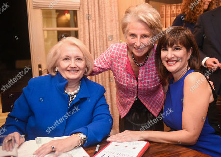 Fast Forward co-authors Melanne Verveer, left, and Kim Azzarelli, right, pose for a photo with Former Congresswoman Jane Harman at the Fast Forward Book Party Hosted by Donna and Mack McLarty, on in Washington