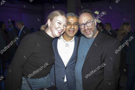 Sadiq Khan, Jimmy Wales, Kate Garvey