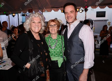From left to right, actress Tyne Daly, PATH founder Claire West Orr, and actor Tim DeKay attend the People Assisting the Homeless 30th anniversary gala on in Los Angeles