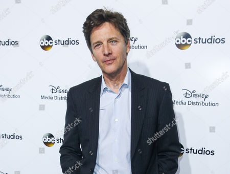Andrew McCarthy arrives at the at Disney Media Distribution International Upfronts in Burbank, Calif. McCarthy, known for his roles in 1980s films Pretty In Pink and St. Elmo's Fire, has a deal with Algonquin Young Readers for Just Fly Away, the story of a teenage girl who learns her father has had a son from an extramarital affair. The book is scheduled for the spring of 2017, the publisher announced Monday, July 27