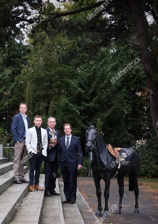 Launching the Down Royal Festival of Racing is champion amateur jockey Jamie Todd, Belfast boxer Carl Frampton, Down Royal chairman Jim Nicholson and Mike Todd from Down Royal.