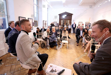 Carl Frampton in conversation with Mick Fitzgerald at the launch of Down Royal Festival of Racing.