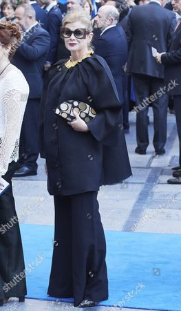 Elena Ochoa Foster arrives to the Campoamor Theater for the Princess of Asturias Award ceremony