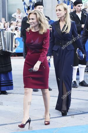 Alicia Koplowitz, Esther Alcocer Koplowitz arrives to the Campoamor Theater for the Princess of Asturias Award ceremony