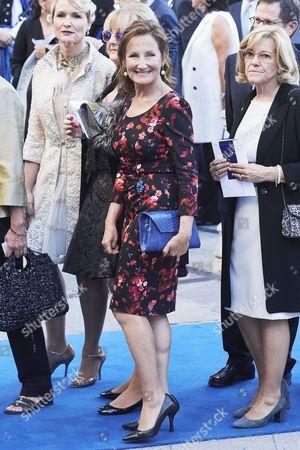 Paloma Rocasolano arrives to the Campoamor Theater for the Princess of Asturias Award ceremony