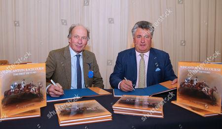 Book author, George Bingham signs the book with trainer, Paul Nicholls ÒWincanton Racecourse. The First 150 YearsÓ. - RACE 1 - 1:40 Wincanton - Jockey Club Catering Novices' Handicap Hurdle (Class 4) at Wincanton Racecourse, Wincanton, Somerset, England