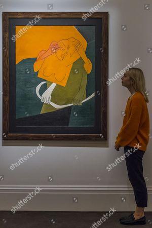 Tyeb Mehta, Gesture, oil on canvas, 1978 Estimate: £900,000-1,500,000