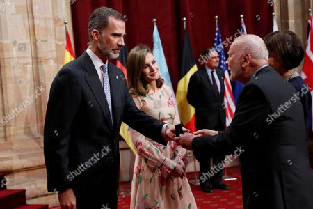 King Felipe VI, Queen Letizia and Adam Zagajewski