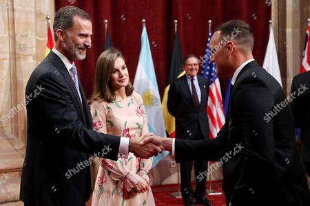 King Felipe VI, Queen Letizia and Israel Dagg