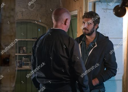 Ep 9282 Monday 23rd October 2017 - 2nd Ep Having promised Andy, as played by Oliver Farnworth, that he'll soon be a free man the pressure is on for Phelan, as played by Connor McIntyre, to come up with his replacement.