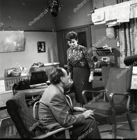 Stock Image of Frank Crawshaw (as Arnold Tanner), Pat Phoenix (as Elsie Tanner)