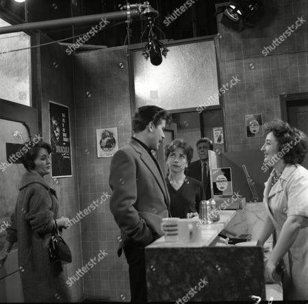 Christine Hargreaves (as Christine Hardman), Brian Rawlinson (as Joe Makinson), Angela Crow (as Doreen Lostock), Cast member and Barbara Ashcroft (as Mary Jackson)