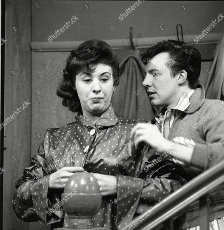 Pat Phoenix (as Elsie Tanner) and Philp Lowrie (as Dennis Tanner)