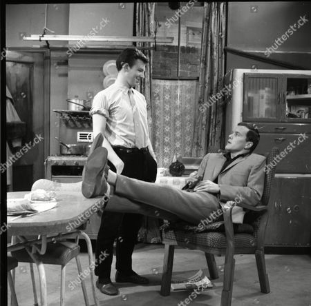 Philp Lowrie (as Dennis Tanner) and Kenneth Cope (as Jed Stone)