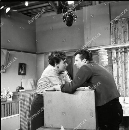 Stock Picture of Pat Phoenix (as Elsie Tanner) and Philp Lowrie (as Dennis Tanner)