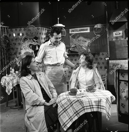 Stock Photo of Eileen Mayers (as Sheila Birtles), Frank Coda (as Mario Bonarti) and Angela Crow (as Doreen Lostock)
