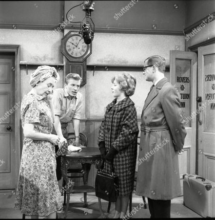 Doris Speed (as Annie Walker), Kenneth Farrington (as Billy Walker), June Barry (as Joan Davies) and Cavan Malone (as Gordon Davies)
