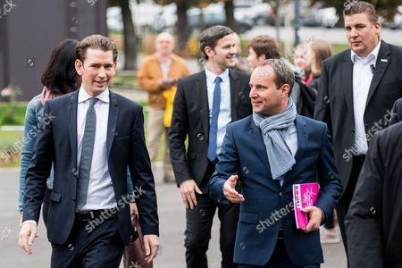 Stock Photo of Sebastian Kurz and Matthias Strolz
