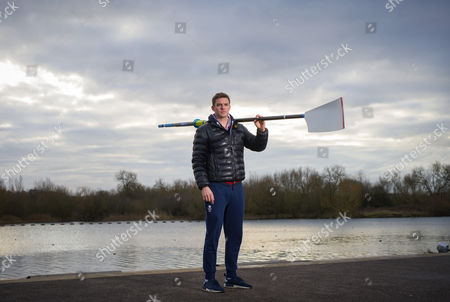 Olympic champion Pete Reed at the Redgrave-Pinsent Rowing Lake, Caversham.