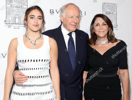 Stock Photo of Ginevra Bulgari, Beatrice Bulgari, Nicola Bulgari