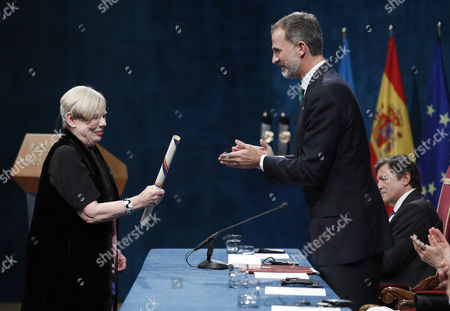 Stock Photo of King Felipe VI and Karen Armstrong