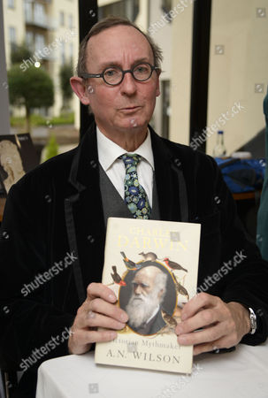 A. N. Wilson, Andrew Norman Wilson with his book 'Charles Darwin, Victorian Mythmaker'