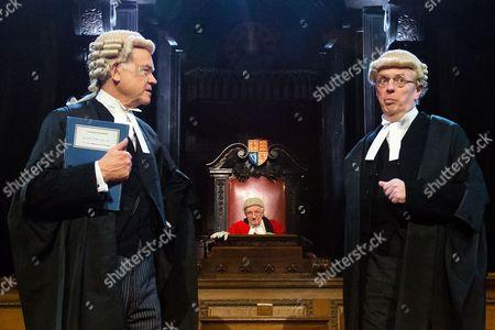David Yelland as Sir Wilfrid Robarts and Philip Franks as Mr Myers QC