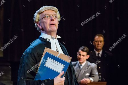 Philip Franks as Mr Myers QC, Jack McMullen as Leonard Vole and John House as Warder