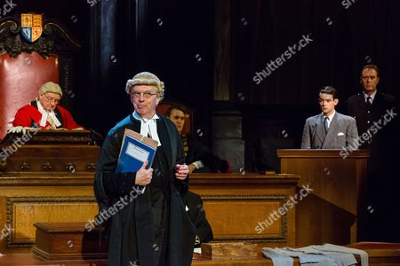 Philip Franks as Mr Myers QC, Patrick Godfrey as Mister Justice Wainwright, Jack McMullen as Leonard Vole and John House as Warder