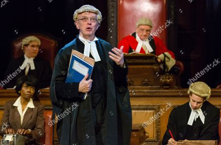 Philip Franks as Mr Myers QC and Patrick Godfrey as Mister Justice Wainwright