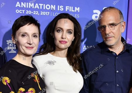 Nora Twomey, Angelina Jolie and Eric Beckman