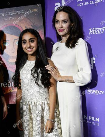 Saara Chaudry and Angelina Jolie