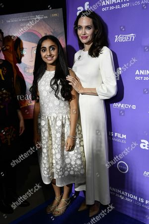 Saara Chaudry and Angelina Jolie