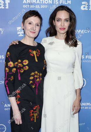Nora Twomey and Angelina Jolie