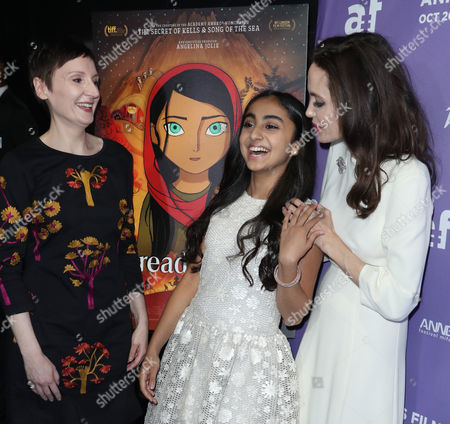 Nora Twomey, Saara Chaudry and Angelina Jolie
