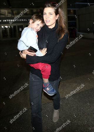 Editorial photo of Charlotte Casiraghi at LAX International Airport, Los Angeles, USA - 20 Oct 2017