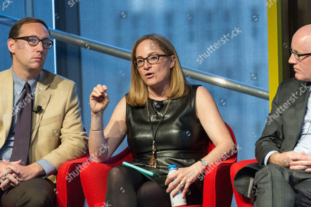 """Stock Picture of Ian Hartman-O'Connell, Ilyce Glink, and Jim Sullivan, at the talk """"Redesigning Life: What Happens When We Live to 100?"""""""